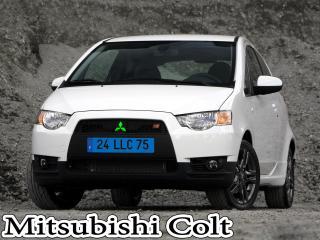 обои Mitsubishi Colt белого цвета на монотонном фоне фото