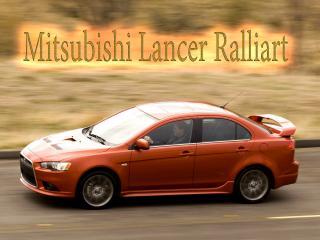 обои Mitsubishi Lancer Ralliart осенью фото