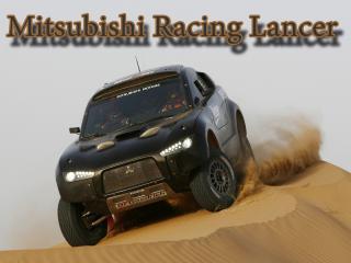 обои Mitsubishi Racing Lancer по пустыни фото