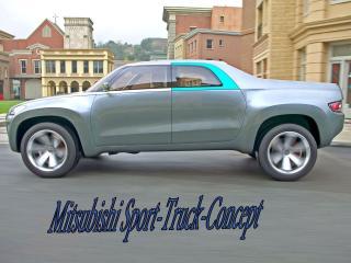 обои Mitsubishi Sport Truck цвета серебра фото