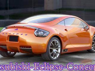 обои Mitsubishi-Eclipse-Concept оранжевого цвета фото