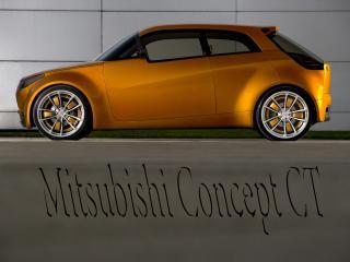обои Mitsubishi Concept CT с логотипам на дороге фото