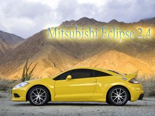 обои Mitsubishi Eclipse 2 желтого цвета фото