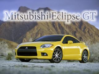 обои Mitsubishi Eclipse GT на фоне горы фото