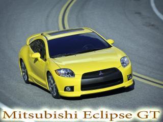 обои Mitsubishi Eclipse GT на повороте фото
