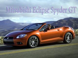 обои Mitsubishi Eclipse Spyder GT вид на гору фото