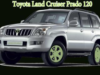 обои Toyota Land Cruiser Prado 120 на черном фоне фото