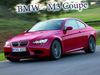 обои BMW - M3 Coupe вид на 45 градусов фото