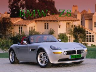 обои BMW - Z8 с зелеными номерами на фоне дома фото