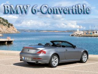 обои BMW 6-Convertible на фоне моря в восточном городе фото