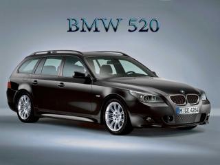 обои BMW 520 черного цвета фото