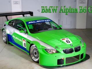 обои BMW Alpina B6 GT3 красивого салатового цвета фото