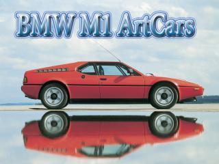 обои BMW M1 ArtCars на фоне слития неба и лужи фото
