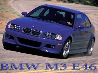 обои BMW M3 E46 сине глянцевого цвета фото