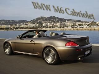 обои BMW M6 Cabriolet на фоне города фото