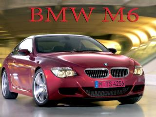 обои BMW M6 в туннеле фото