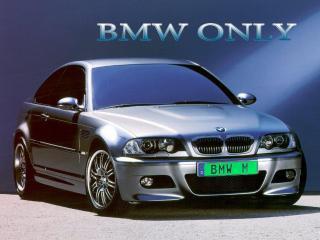 обои BMW ONLY с салатовыми номерами и логотипом фото