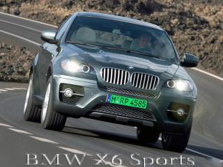 обои BMW X6 Sports на дороге под наклоном фото