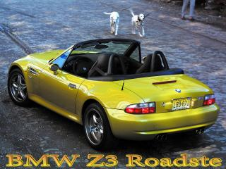 обои BMW Z3 Roadste желтого цвета фото
