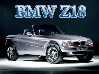 обои BMW Z18 кабриолет с логотипом верху фото