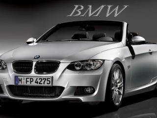 обои BMW на сером фоне фото