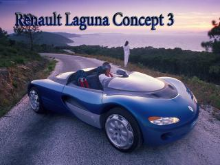 обои Renault Laguna Concept 3 синего цвета  на оне неба и гор фото