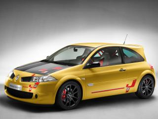 обои Renault Megane R26 желтого цвета фото