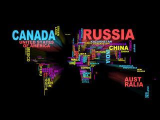 обои Текстовая карта Мира фото