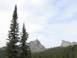 обои Вид на горный узел фото