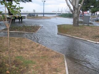 обои Затопленная приморская площадь фото