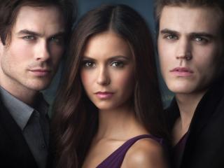 обои Елена с парнями фото