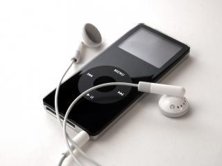 обои Apple ipod,   наушники,   чёрный фото