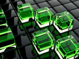 обои Зелёные кубы фото