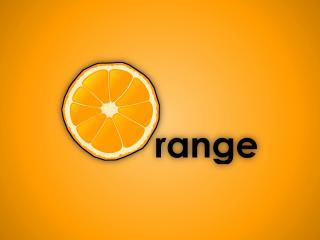 обои Логотип с рисунком апельсина фото