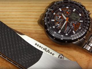 обои Нож benchmade и часы citizen фото