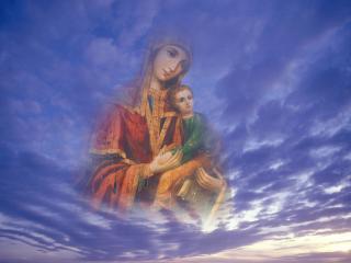 обои для рабочего стола: Божья матерь
