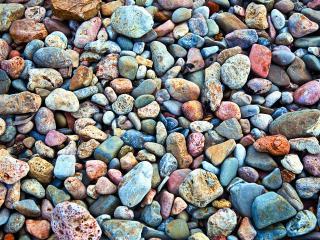 обои Морская разноцветная галька фото