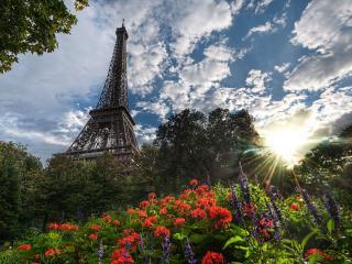обои Французский пейзаж,   Эйфелева башня фото