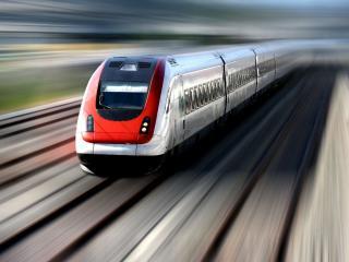 обои Скоростной поезд в движении фото