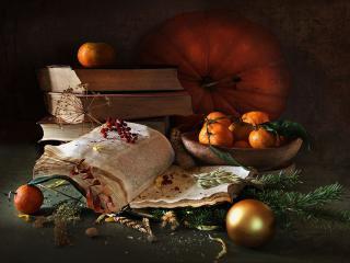 обои Осенне-зимний натюрморт фото