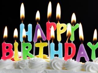 обои для рабочего стола: С днем рождения,   свечи