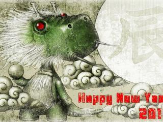 обои Новый год 2012,   дракон фото