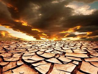 обои Пустынная высушеная земля фото