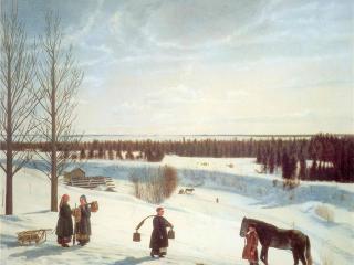 обои Крылов Н.С. Русская зима фото