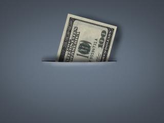 обои Банкнота в прорези фото