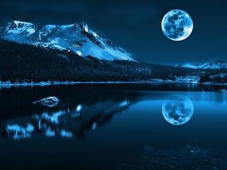 обои Красота ночи в горах фото