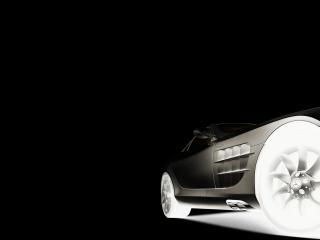 обои Mersedes кабриолет в темноте фото