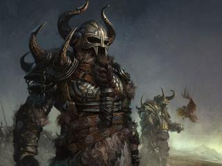 обои Темный рыцарь в шлеме фото