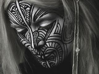 обои Девушка с татуировкой майа фото