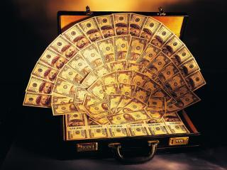 обои Веер из долларов фото